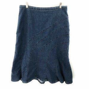 Christopher & Banks Womens Blue Denim Skirt 10 P